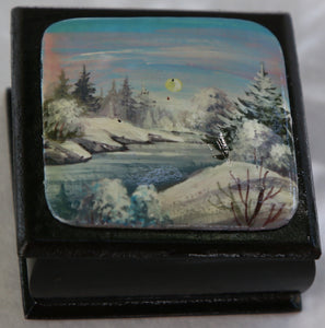 "Russian Lacquer Box ""Winter Wonderland"""