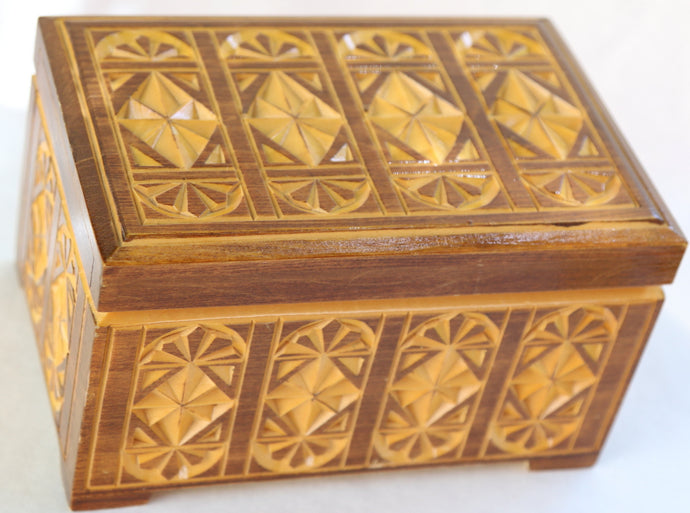 Jewelry Box, Large Wooden, Hand Carved