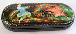 "Lacquer Hard Eyeglass Case Box, ""Firebird"""