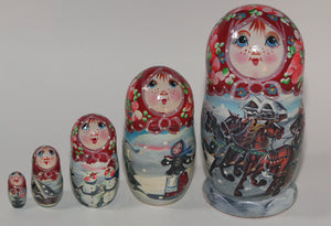 "Matryoshka, ""Russian Winter"""