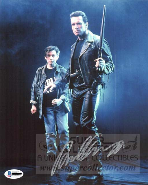 Pre-Order: Edward Furlong Terminator 2: Judgment Day Autographed Photo Previously Signed by Arnold Schwarzenegger