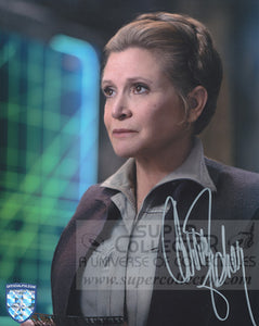 "Carrie Fisher ""General Leia Organa"" 8x10 Autograph Star Wars The Force Awakens Official Pix"