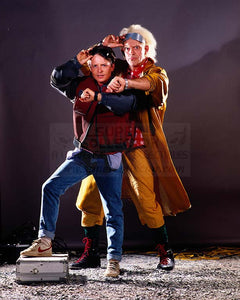 "Pre-Order: Michael J. Fox ""Marty McFly"" and Christopher Lloyd ""Doc Brown"" Back to the Future Autographed Photo"