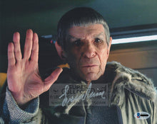 "Load image into Gallery viewer, Leonard Nimoy ""Spock"" 8x10 Autograph Star Trek 2009"
