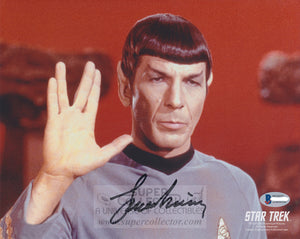 "Leonard Nimoy ""Spock"" 8x10 Autograph Star Trek: The Original Series"
