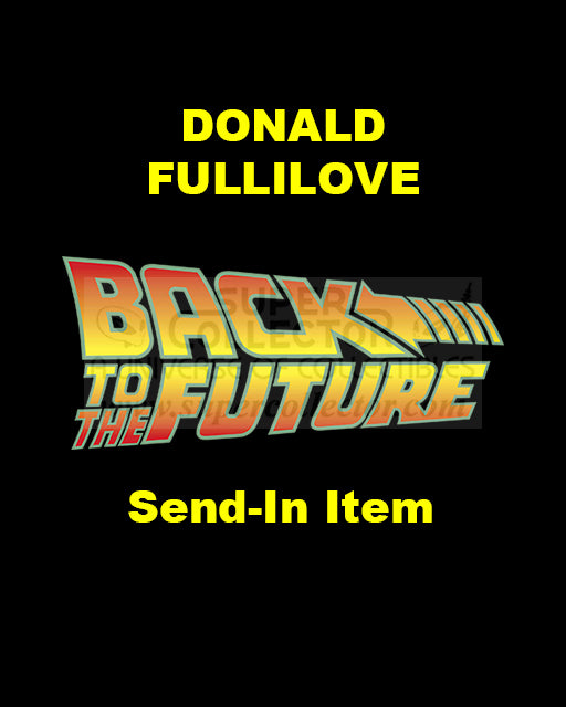 Send-In: Donald Fullilove Autographed Personal Item