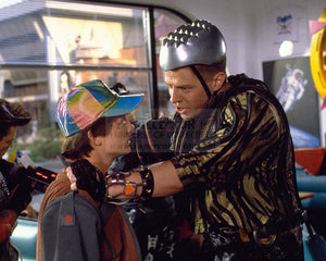 "Pre-Order: Michael J. Fox ""Marty McFly and Tom Wilson ""Griff Tannen"" Back to the Future Autographed Photo"
