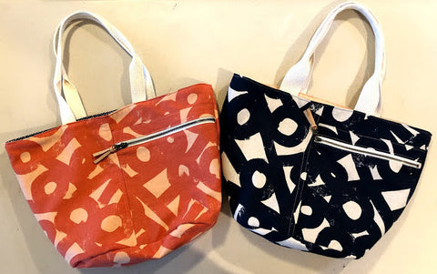 Crescent tote bags