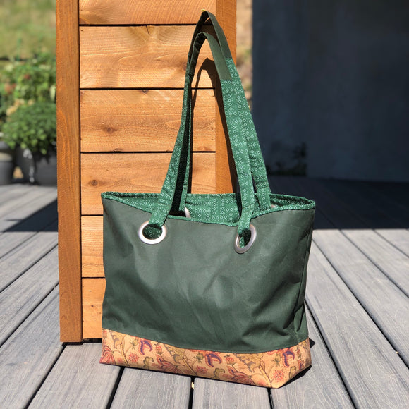 The Big Bag: Waxed Canvas & Cork