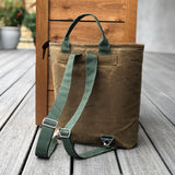 Buckthorn Waxed Canvas Tote Bag and Backpack