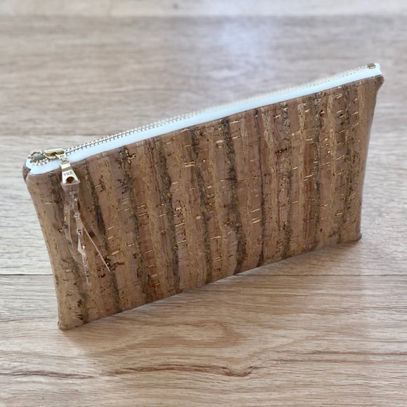 Golden Birch Cork Zipper Pouch