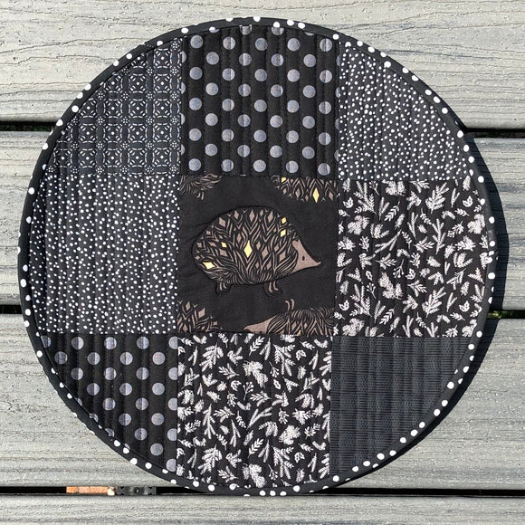 Hedgehog Quilted Placemats