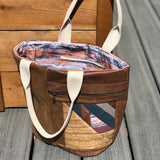 Leather Crescent Tote Bag