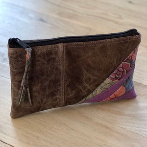Leather & Cork Zipper Pouch