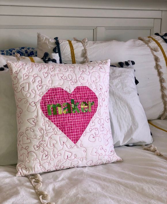 Maker Quilted Pillow Cover Only