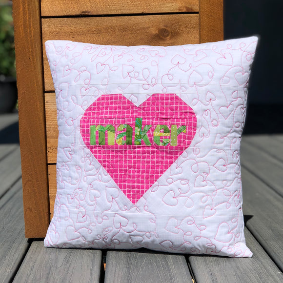 Maker Quilted Pillow