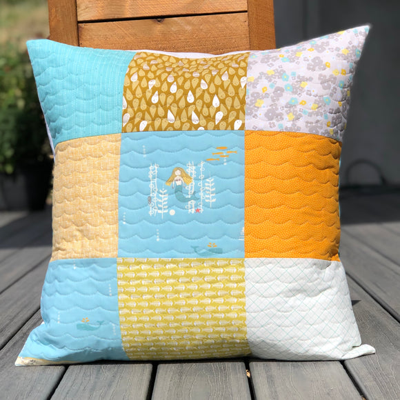 Mermaid Quilted Pillow