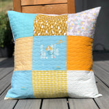 Mermaid Quilted Pillow Cover Only