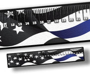 Ruler - Blue Stripe Flag