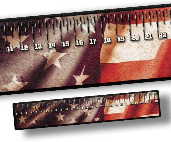 Ruler - American Flag Distressed