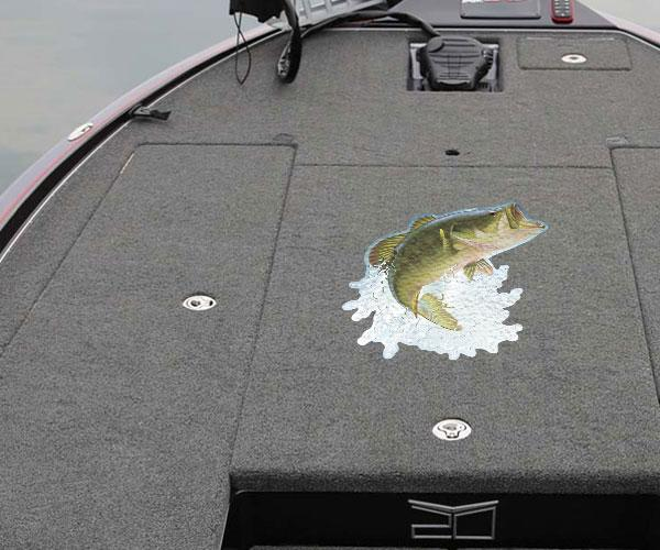 Jumping Bass Carpet Graphic