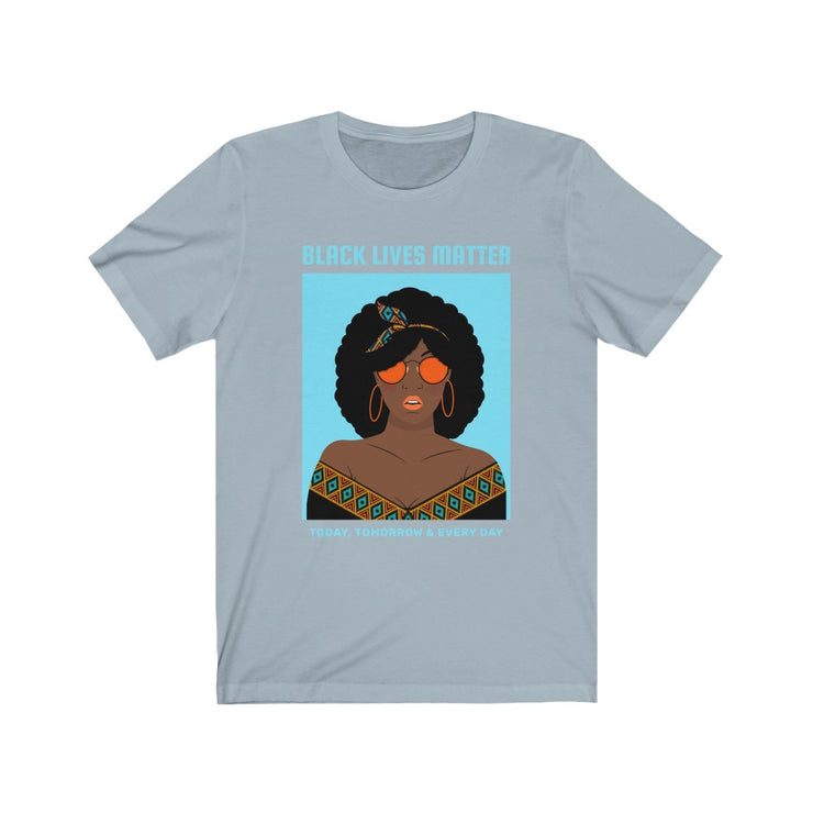 BLM Light Blue Illustration Tee