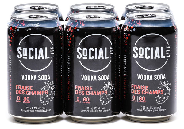 Social Lite Field Strawberry 6-Pack
