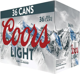 Coors Light Beer 36-Pack