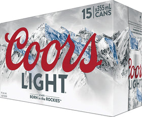 Coors Light Beer Can 15-Pack