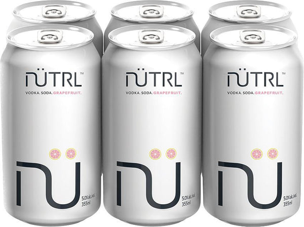 Nutrl Vodka Soda Grapefruit 6-Pack