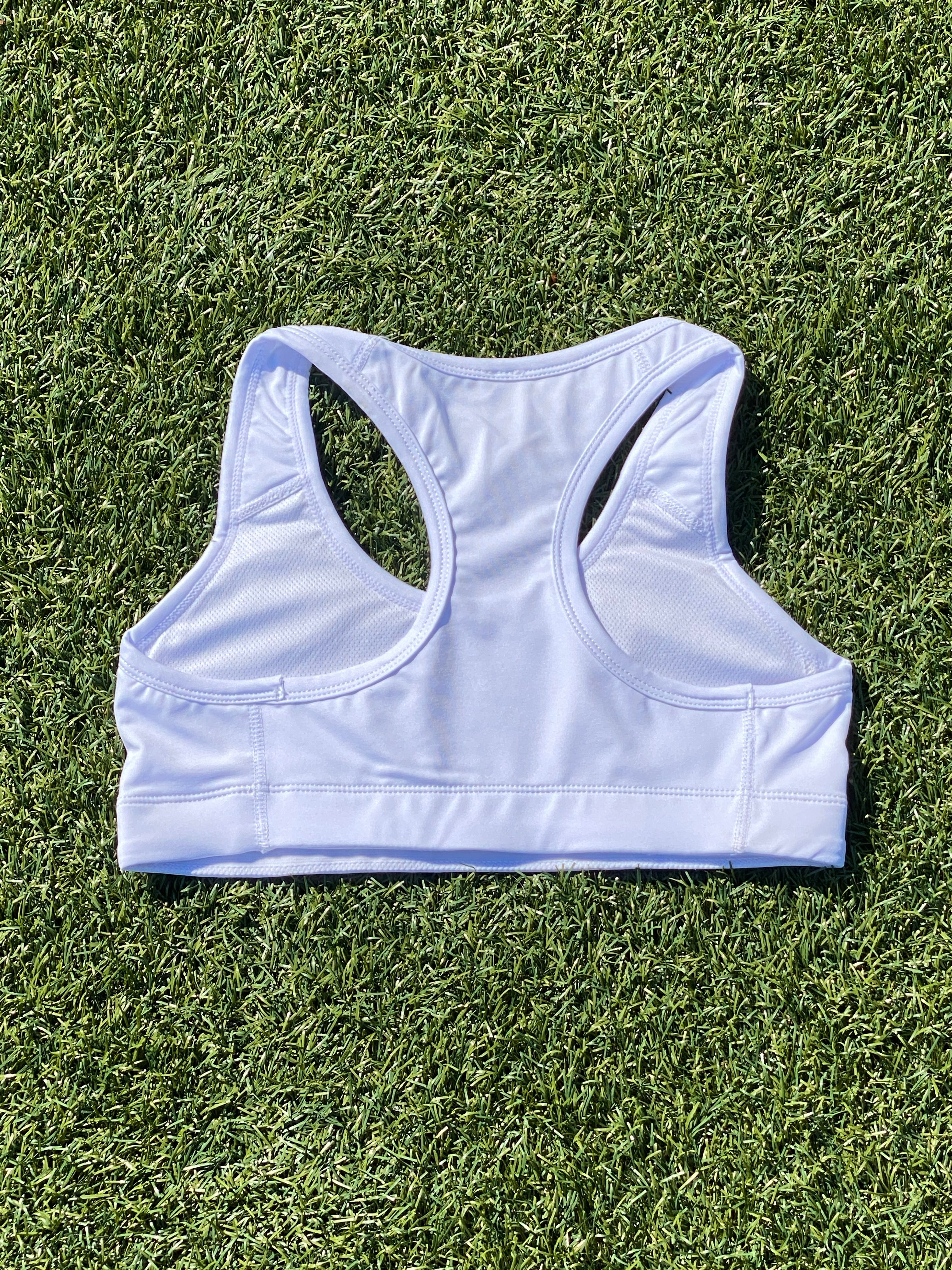 White Fine Gang Sports Bra