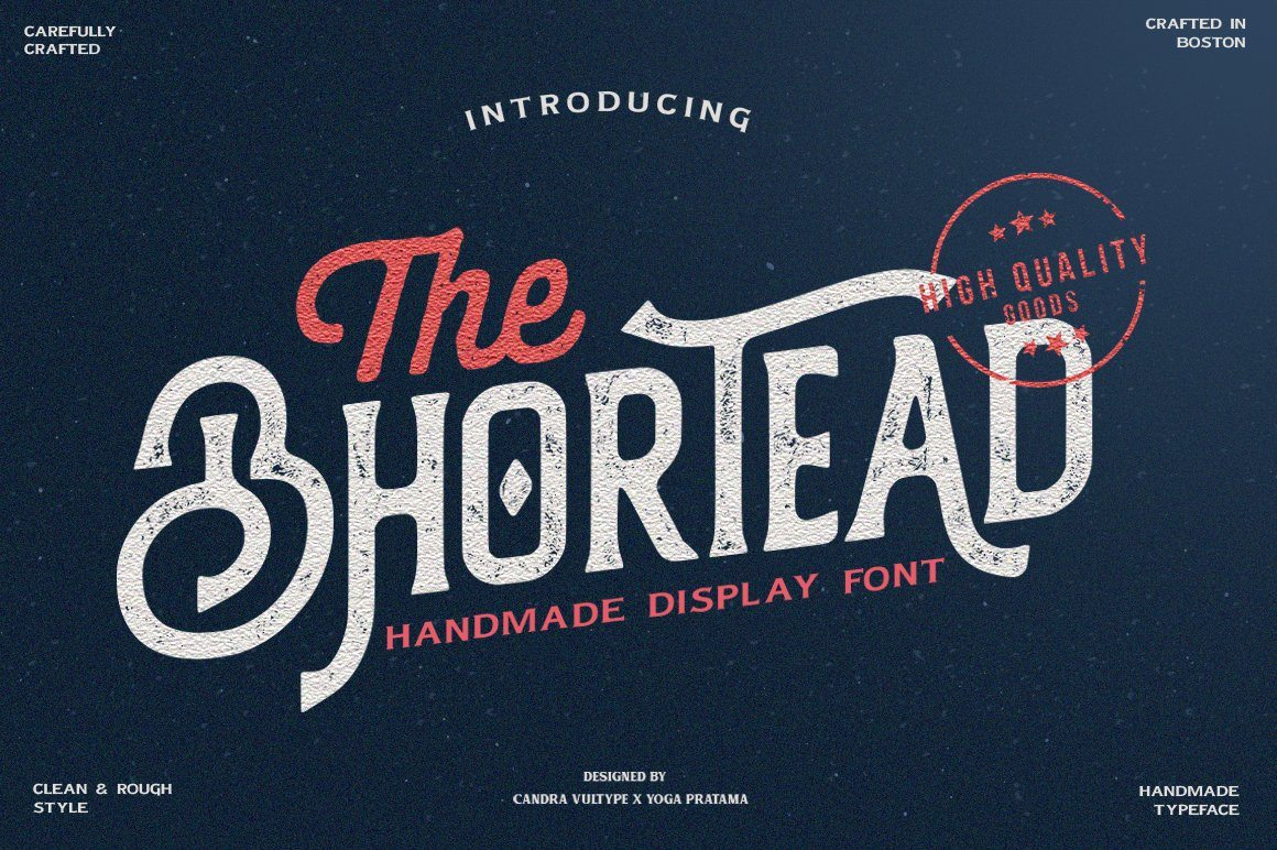 The Bhortead - Vintage Rough & Stamp Font - Vultype Co