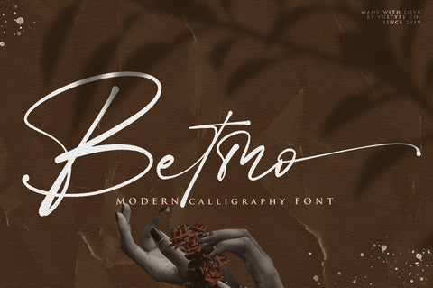 Betmo Calligraphy Script Font - Vultype Co