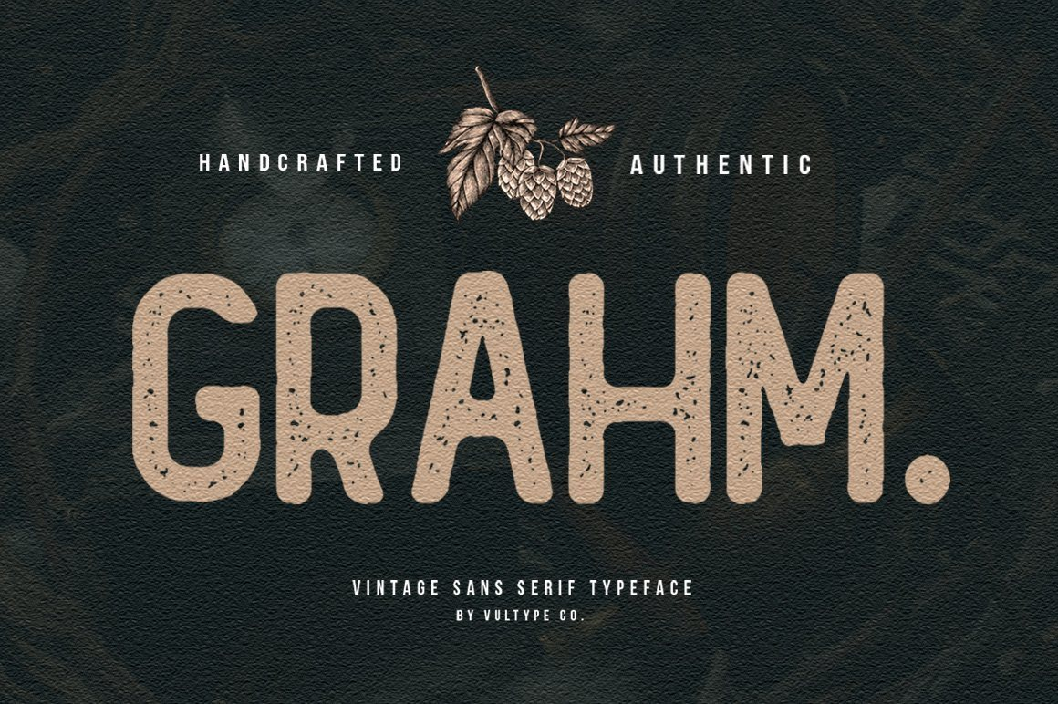 GRAHM Vintage Sans Serif - Vultype Co
