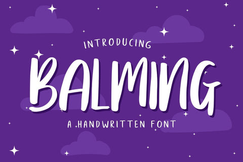 Balming - Fun handwritten fonts