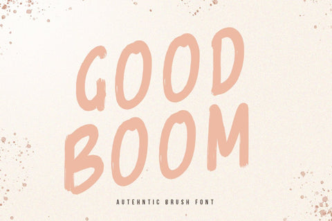 Goodboom Brush Font