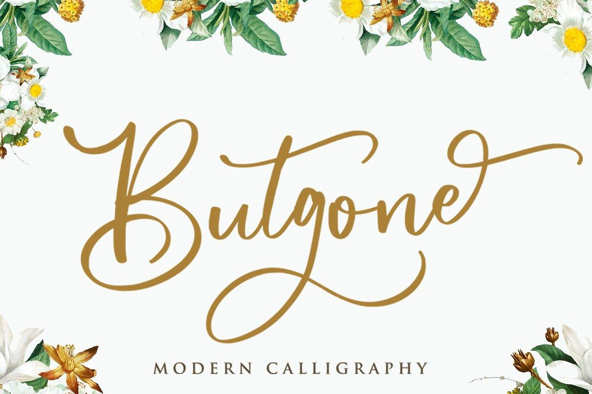 Butgone - Modern Calligraphy Font
