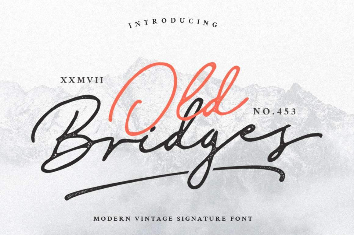 Old Bridges - Vintage Signature Font - Vultype Co