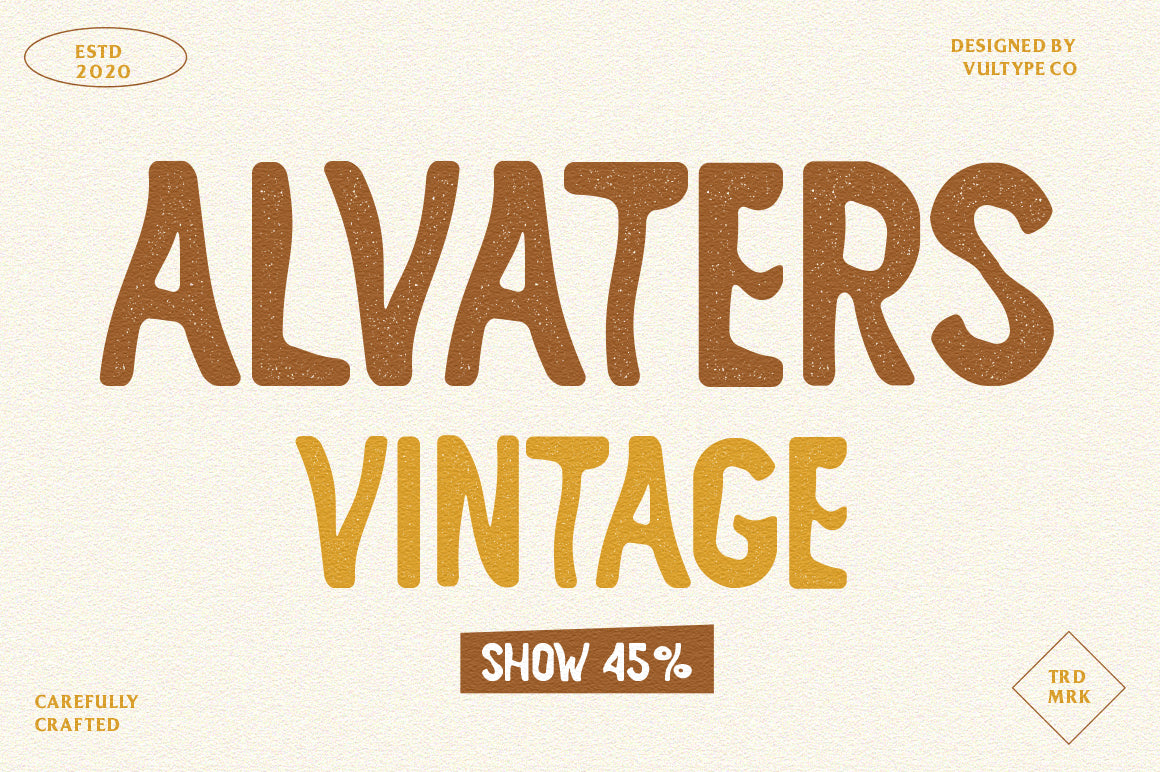 Alvaters Handcrafted Vintage Fonts