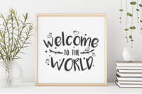 Welcome to the world baby SVG Cut File