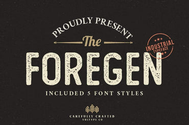 The Foregen - Vintage Stamp Font - Vultype Co