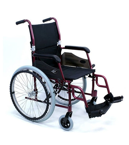 KARMAN LT-980 BD E -ULTRA  LIGHT WHEELCHAIR - BURGANDY ELR