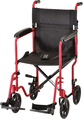 "TRANSPT CHAIR 19"" STEEL RED"