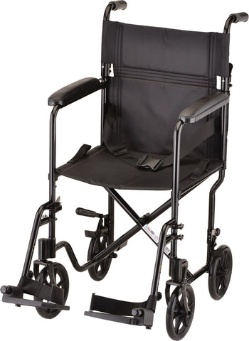 "TRANSPORT CHAIR 19"" LTWT BLACK"