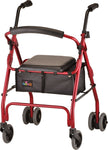 NOVA - 4200 RED CRUISER DE-LIGHT ROLLATOR - 250LB WEIGHT CAPACITY