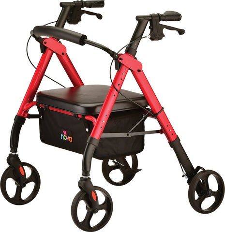 STAR HD ROLLATOR RED
