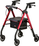 NEW STAR 6 ROLLATOR RED