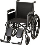 "WHEELCHAIR STL 18"" DFA ELVT LR"