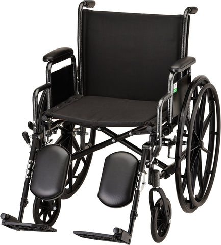 "WHEELCHAIR STL 20"" DDA ELVT LR"