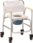HEAVY DUTY COMMODE W/BACK 450
